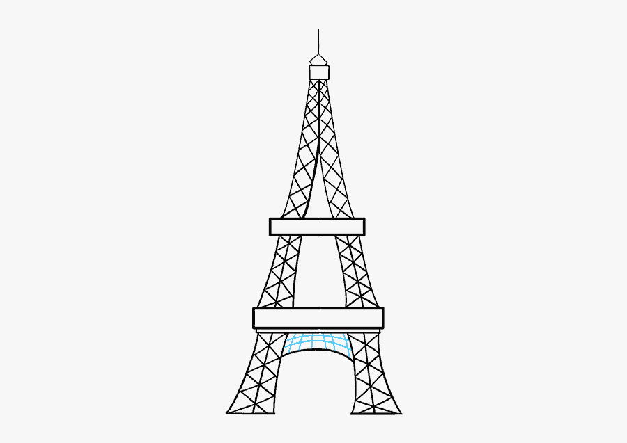 How To Draw Eiffel Tower - Easy Eiffel Tower Sketch, Transparent Clipart
