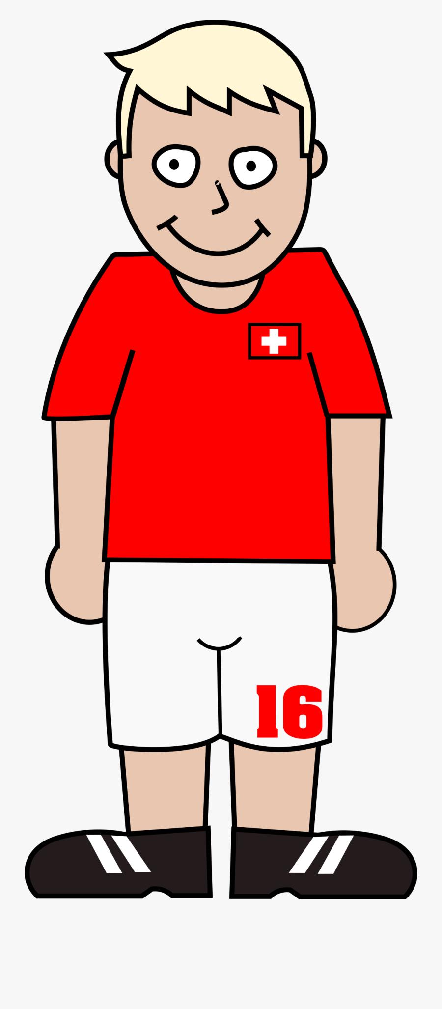 Football Player Switzerland Jpg Transparent Stock - Soccer Player Clip Art, Transparent Clipart