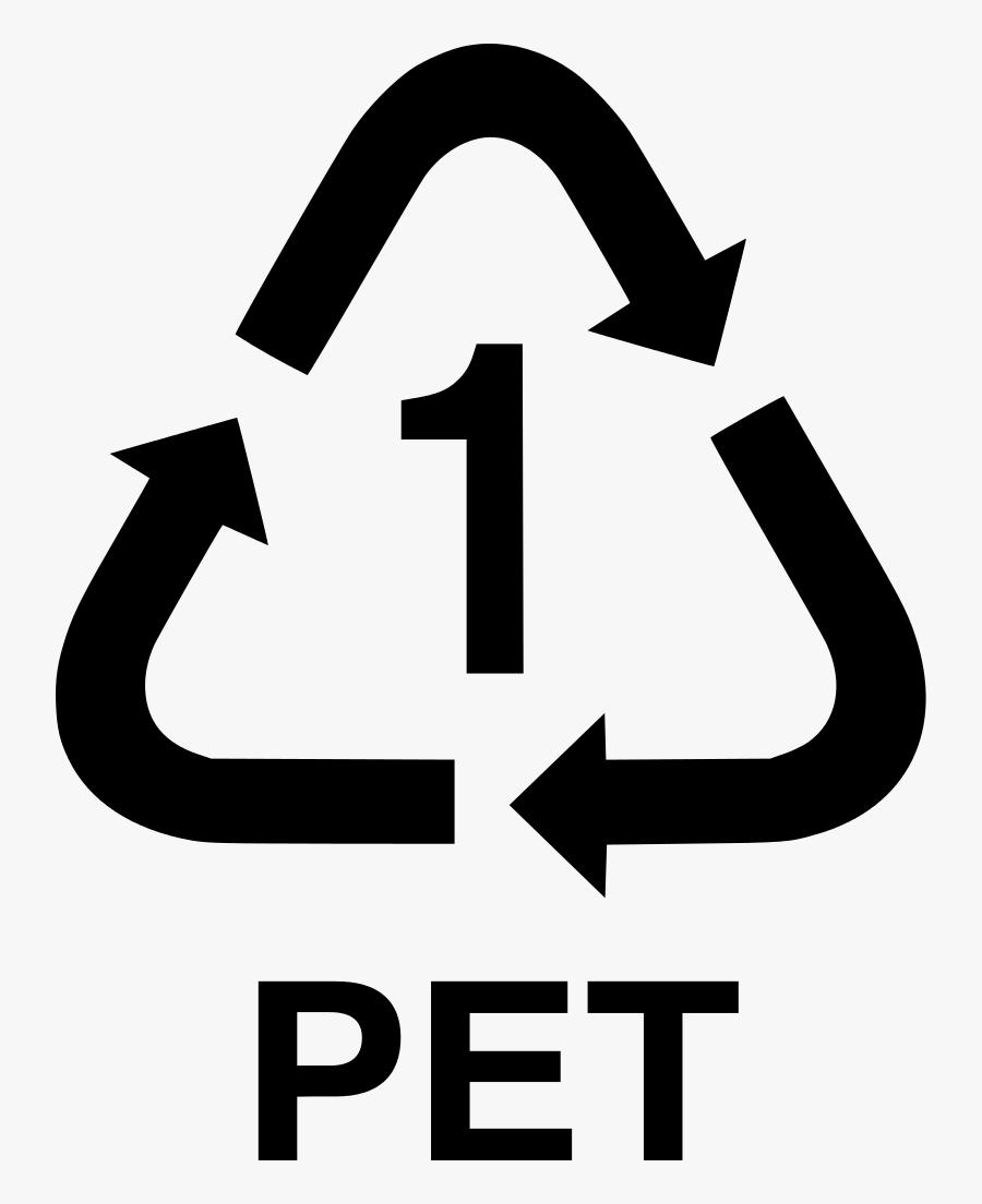 Transparent Recycle Symbol Clipart - Pet Recycling Symbol, Transparent Clipart