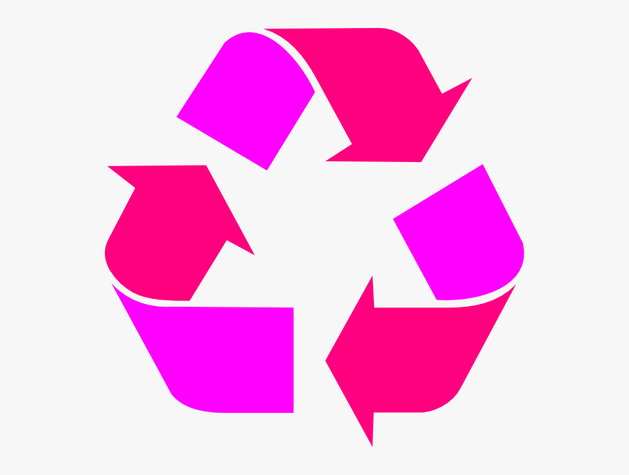 Red Recycle Symbol, Transparent Clipart