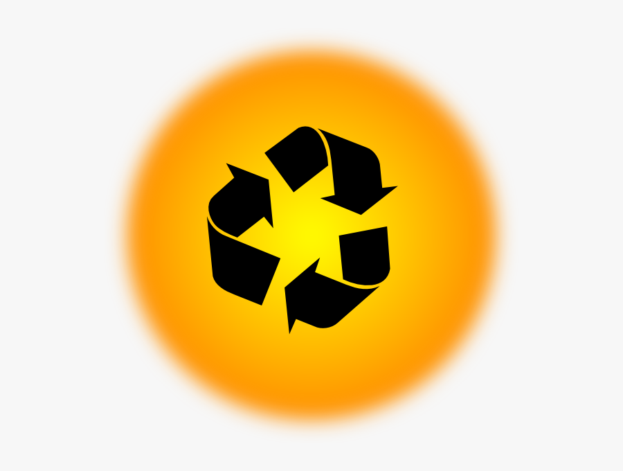 Orange Recycle Icon Svg Clip Arts - Recycle Symbol, Transparent Clipart