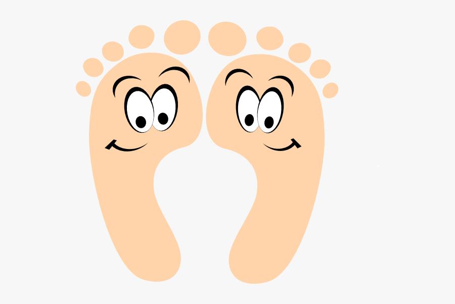 Cartoon Foot Face, Transparent Clipart