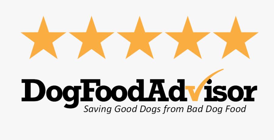 Transparent Review Stars Png - Dog Food Advisor Logo, Transparent Clipart