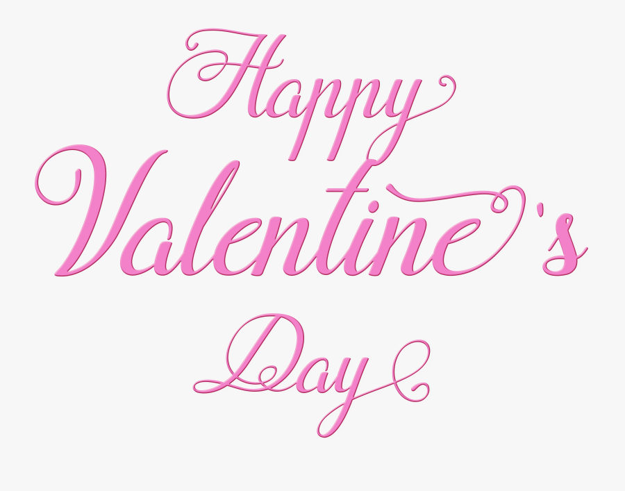 Happy Valentines Day Text Png - Calligraphy, Transparent Clipart
