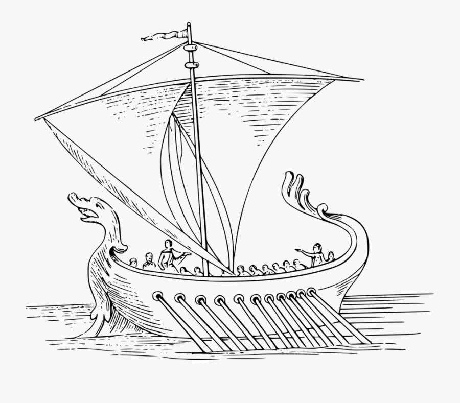 Caravel,ship,boat - Easy Roman Ship Drawing, Transparent Clipart