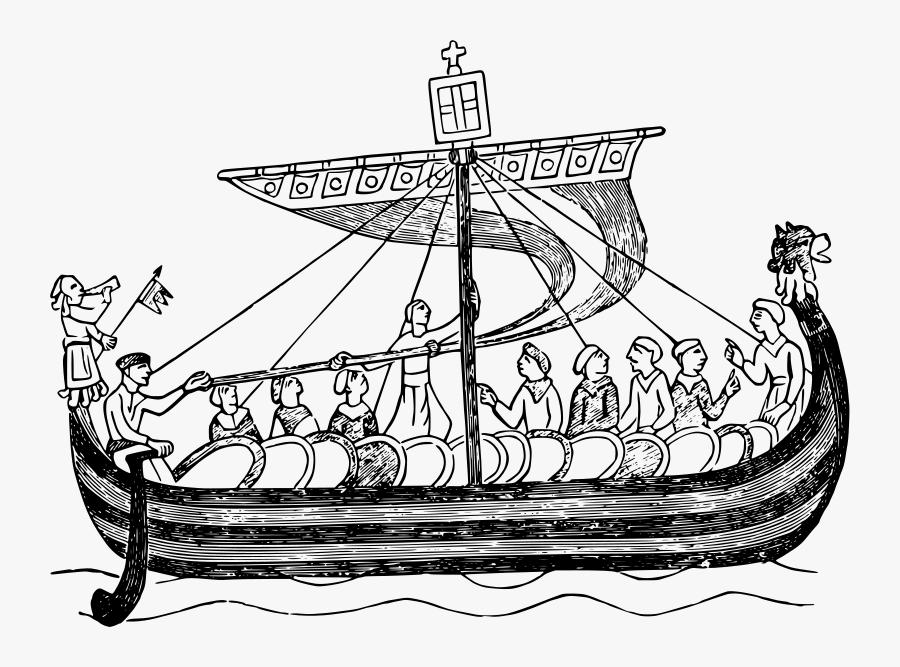 Transparent Peasants Clipart - William The Conquerors Ship, Transparent Clipart