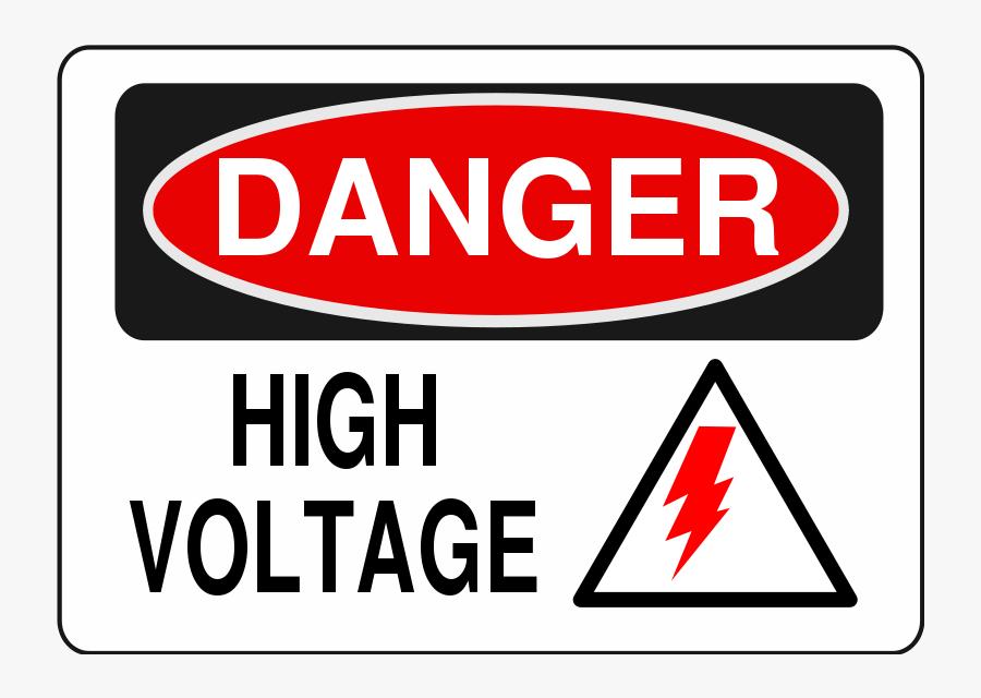 High Voltage - Danger High Voltage Sign Vector, Transparent Clipart