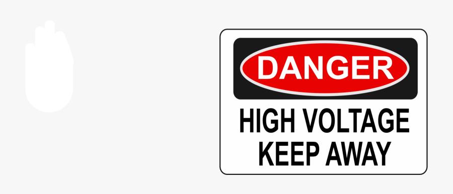 Area,text,brand - Danger High Voltage, Transparent Clipart