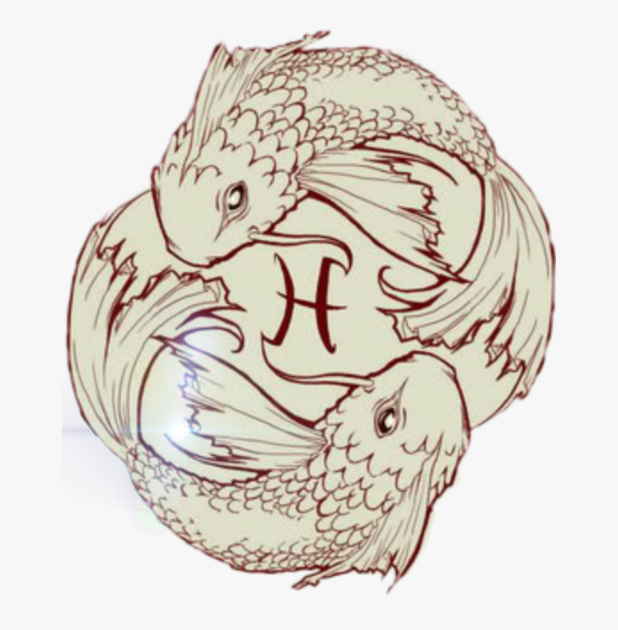 #zodiac Signs #for My Cousin - Pisces Koi Fish, Transparent Clipart