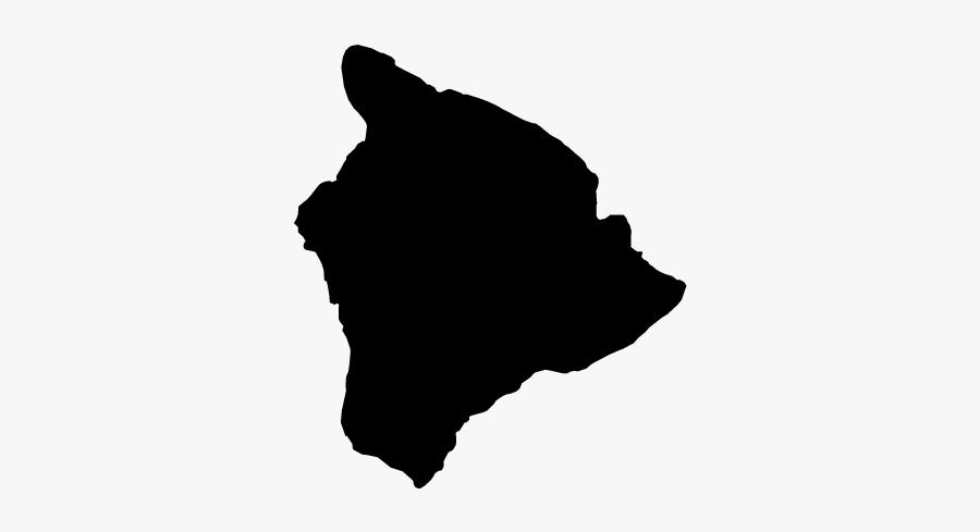 Hawaii Kahoolawe Map Stock Photography - Big Island Black And White, Transparent Clipart