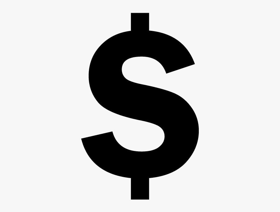 Clip Art Black Sign For - Dollar Sign Symbol Png, Transparent Clipart