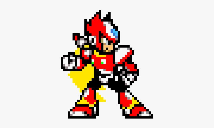 Megaman X Pixel Art, Transparent Clipart