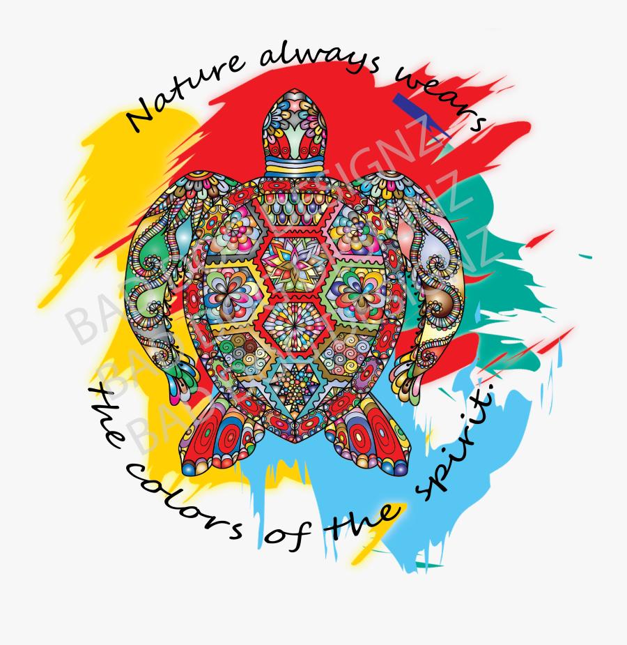 Sea Turtle Colors Of Nature Tank Top - Illustration, Transparent Clipart