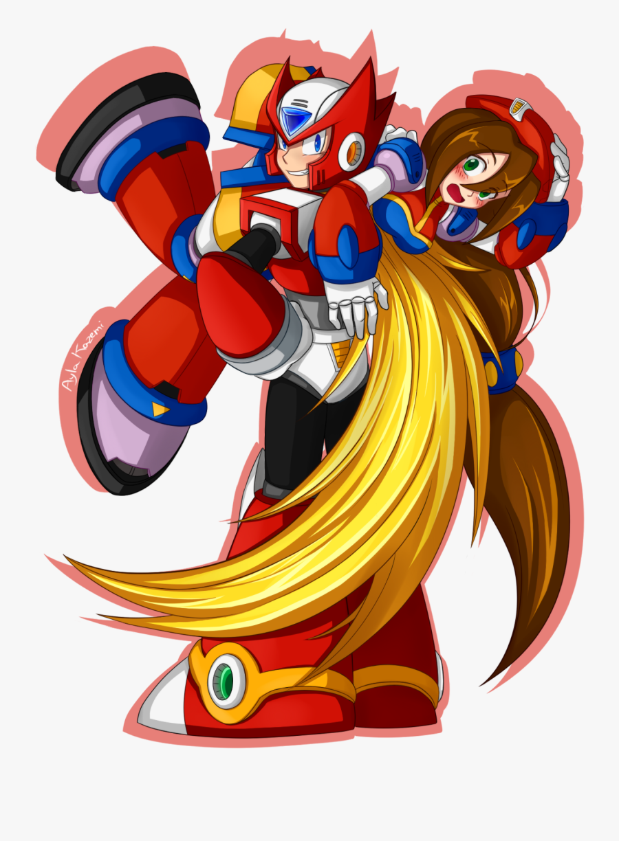 Megaman X Zero And Iris, Transparent Clipart