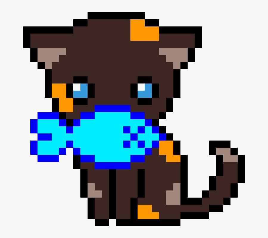 Easy Cat Pixel Art, Transparent Clipart