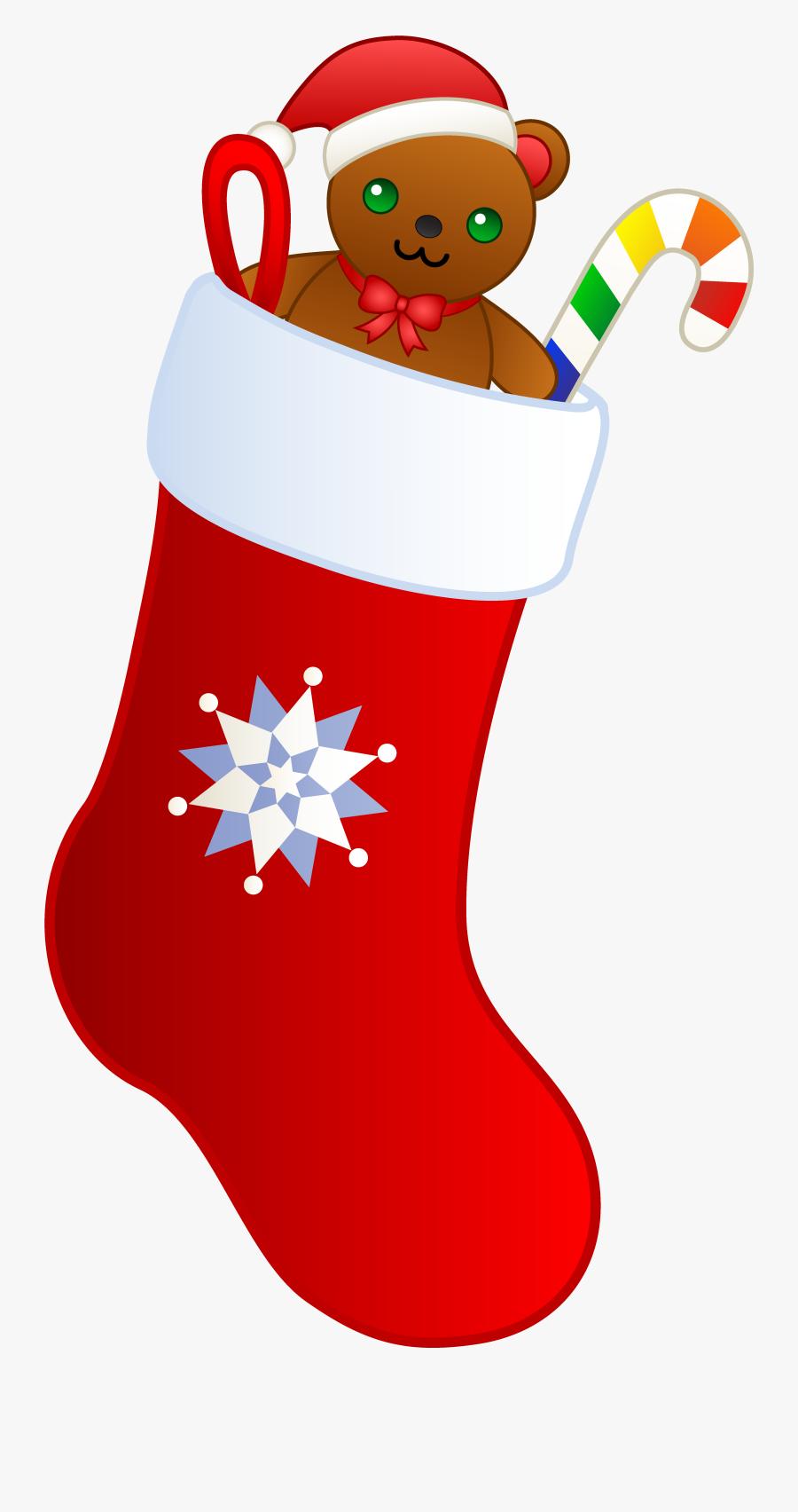 Christmas Stockings Clip Art, Transparent Clipart