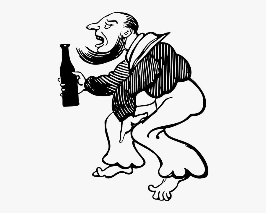 Drawing Father Drinking Alcohol, Transparent Clipart