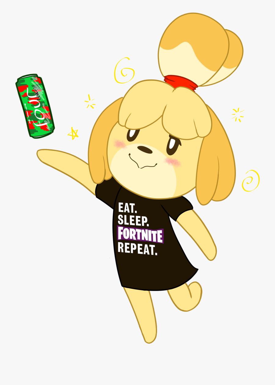 Isabelle The Drunk Gamer - Isabelle Animal Crossing Fortnite, Transparent Clipart