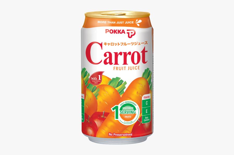 Carrot Fruit Juice - Pokka Carrot Fruit Juice, Transparent Clipart