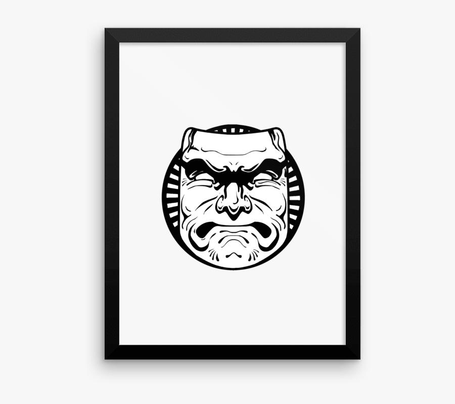 Squat Face Art - Illustration, Transparent Clipart