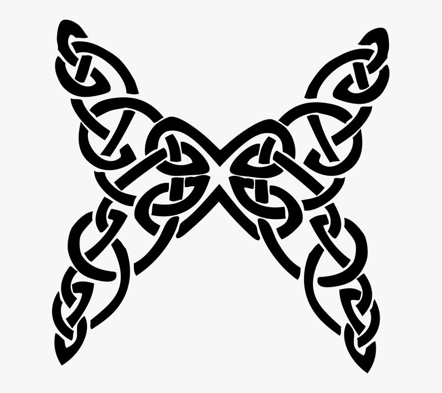 Butterfly Black And White Celtic Designs, Transparent Clipart