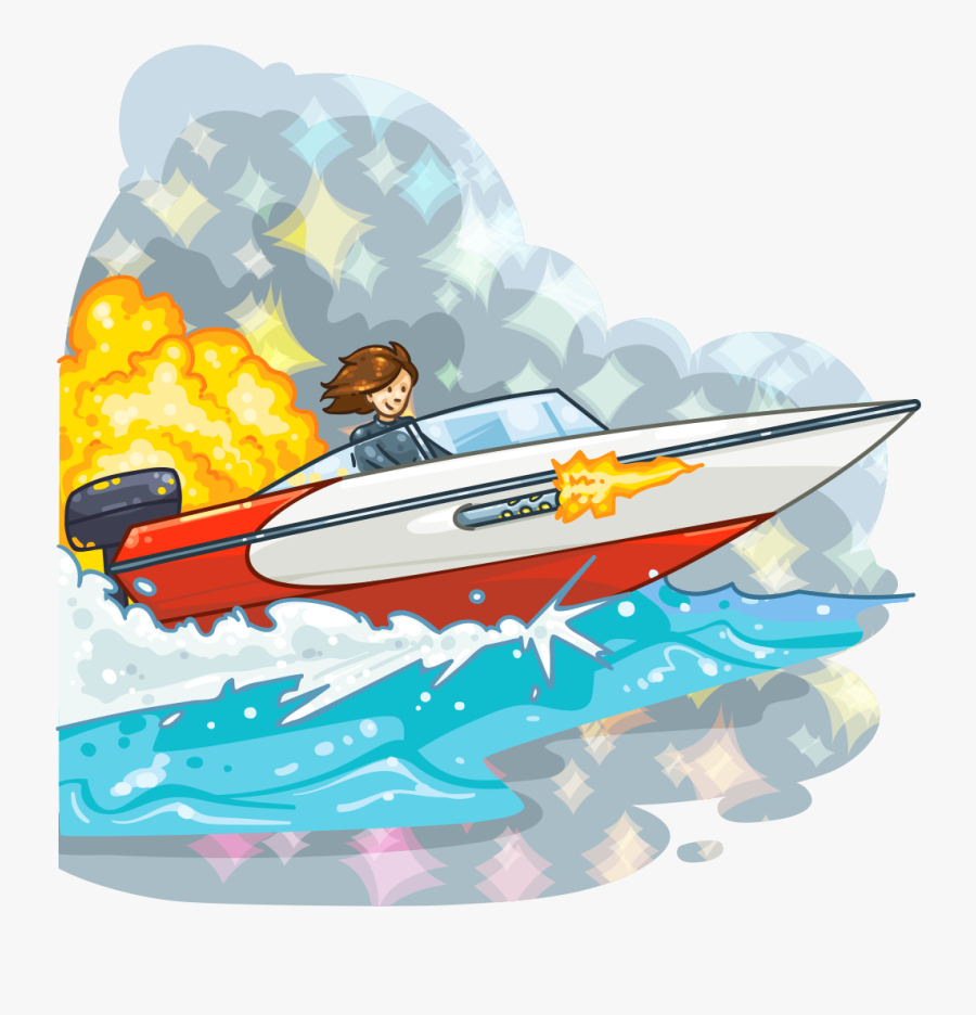 Speed Boat Cartoon Free Transparent Clipart Clipartkey