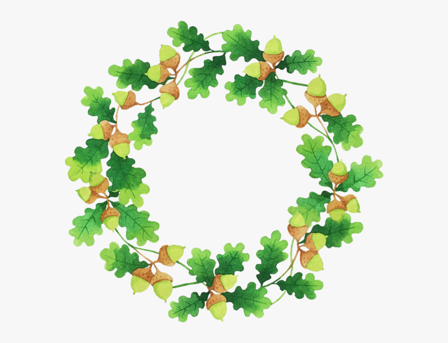 Transparent Leaf Wreath Clipart - Flower Ring Green Png, Transparent Clipart