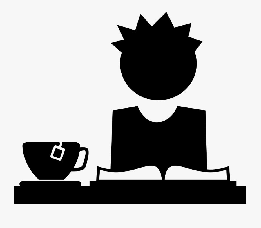Student Reading A Book Drinking Tea - Boy And Girl Icon Transparent Background, Transparent Clipart