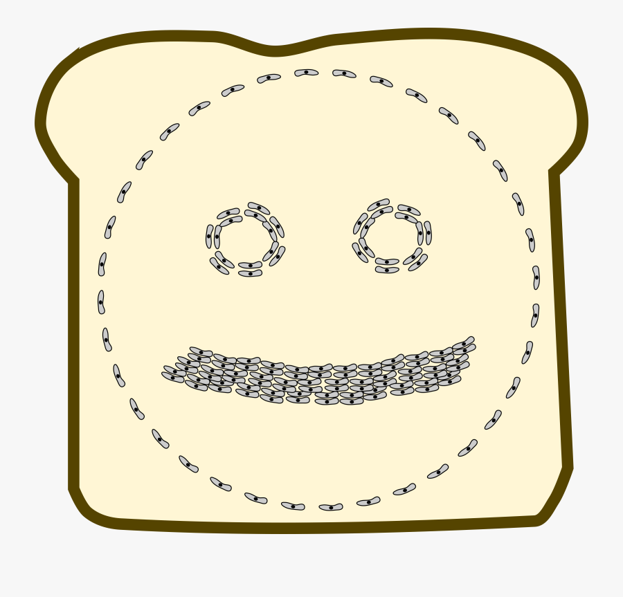 """Germophobe""""s View Of A Sandwich Clip Arts - Circle, Transparent Clipart"""