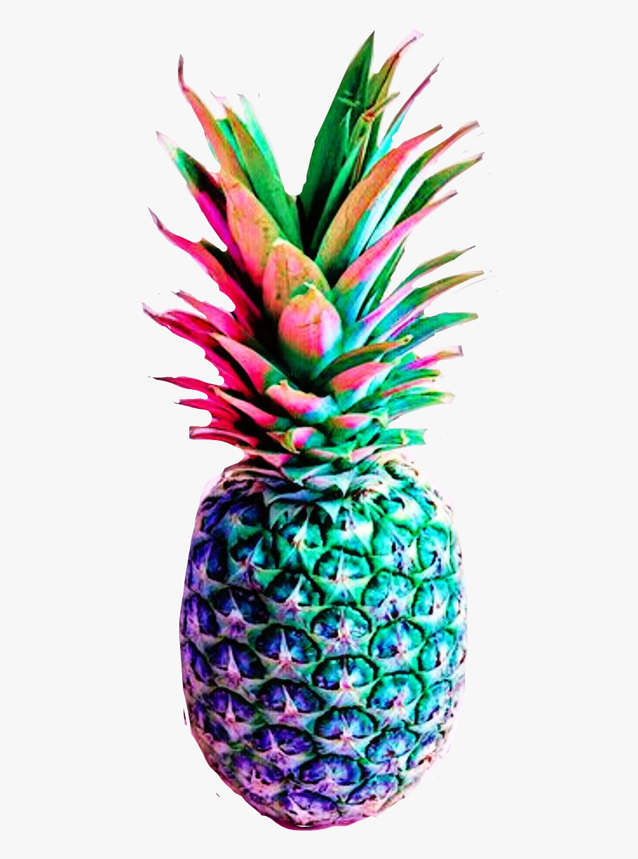 Rainbow Clipart Pineapple - Rainbow Pineapple Drawing, Transparent Clipart
