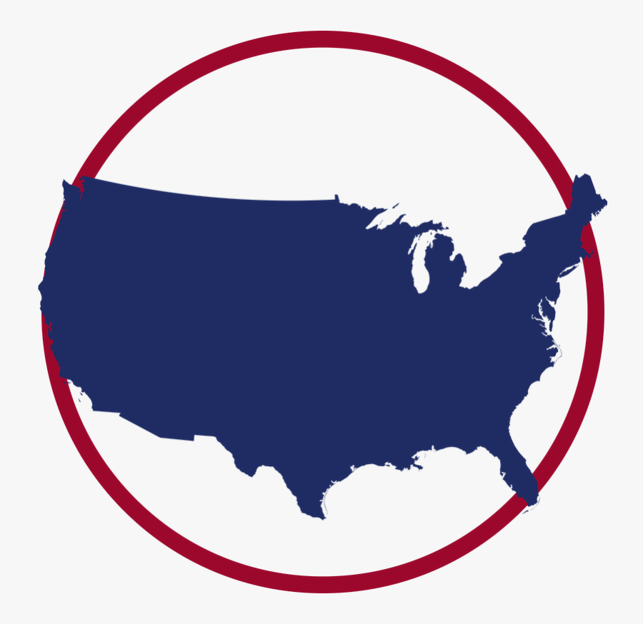 White People Us Map, Transparent Clipart