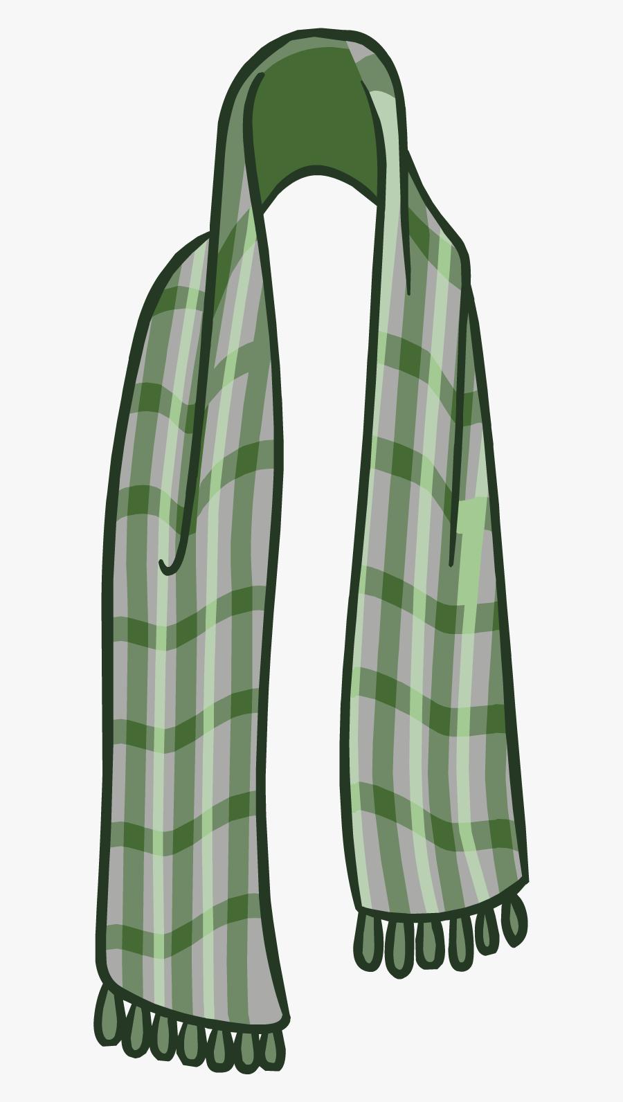 Club Penguin Wiki - Club Penguin Green Scarf, Transparent Clipart