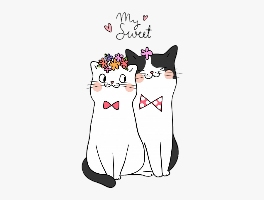#kiities #kitty #cat #cats #love #valentinesday #iloveyou - Cats Happy Valentines Day 2019, Transparent Clipart
