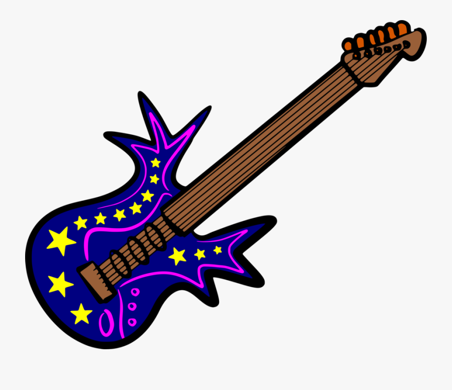 String Instrument,guitar Accessory,plucked String Instruments - Colour Drawing Of Musical Instruments, Transparent Clipart