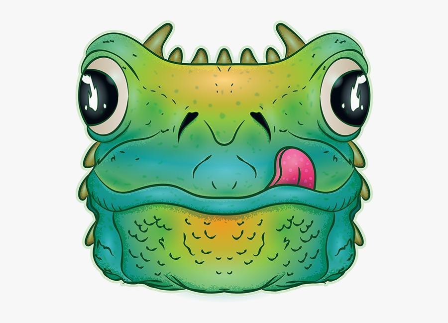 Horned Frog Box Monster - True Frog, Transparent Clipart