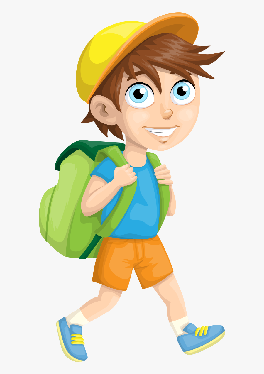 Student School Child - Boy Backpack Clip Art, Transparent Clipart