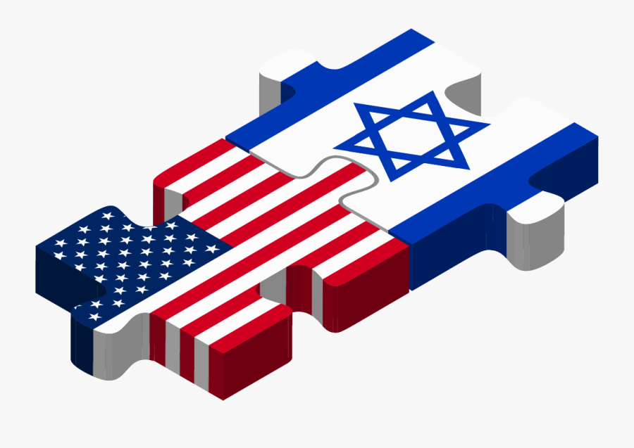 Usa Israel Puzzle - Bangladesh And Usa Flag, Transparent Clipart