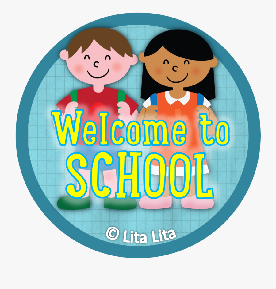 Welcome To School Badges, Transparent Clipart