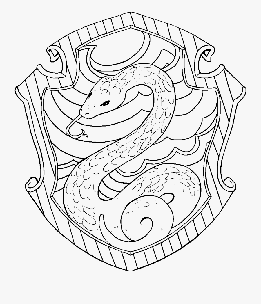 Slytherin Harry Potter Coloring Pages , Free Transparent Clipart -  ClipartKey