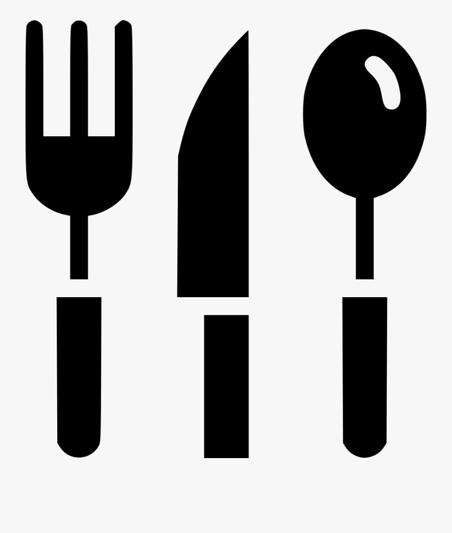 Cutlery Tableware Knife Fork Spoon Eat Food Svg Png - Knife Fork Spoon Logo Png, Transparent Clipart