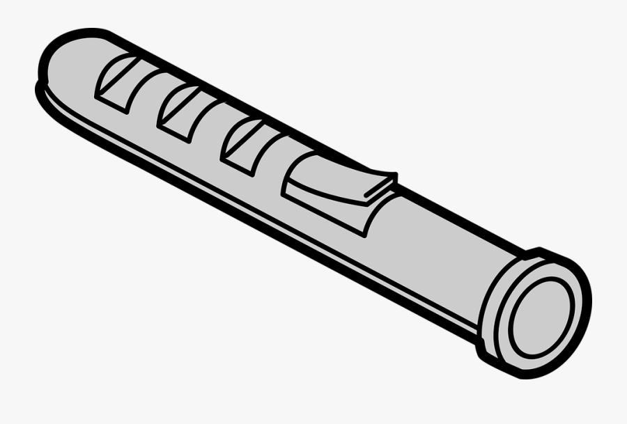 Expansion Plug, Plastic, Plug, Tool, Wall Plug - Wall Plug Clip Art, Transparent Clipart