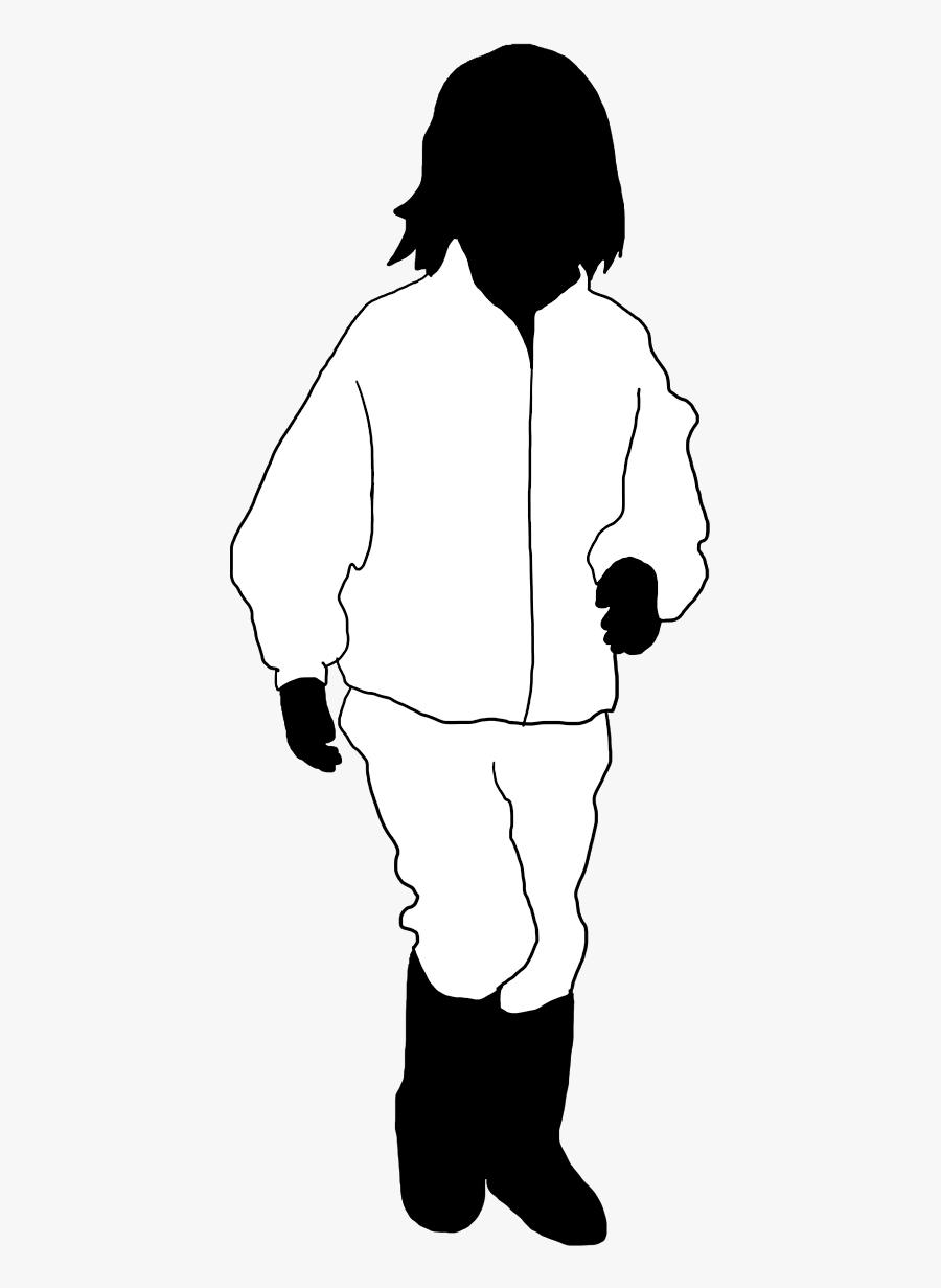 Girl Running Black White Silhouette - School Girl Shadow, Transparent Clipart
