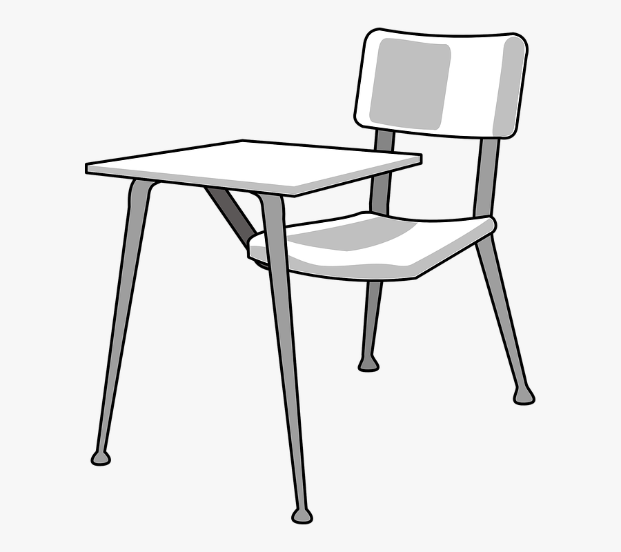 Desk, Student, School, Chair, Empty, Furniture - Drawings Of School Desks, Transparent Clipart