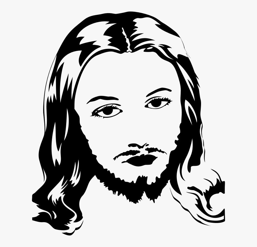 Transparent Jesus Christ Clipart Dessin Jesus Portrait Free Transparent Clipart Clipartkey