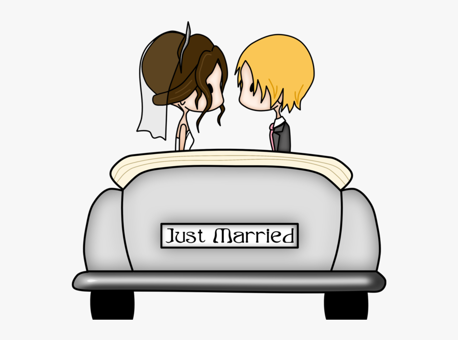 Bridegroom Marriage Engagement Wedding - Just Married Car Clipart, Transparent Clipart