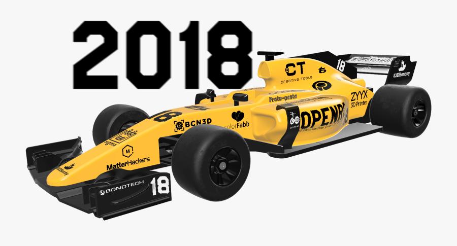 Formula One Car, Transparent Clipart