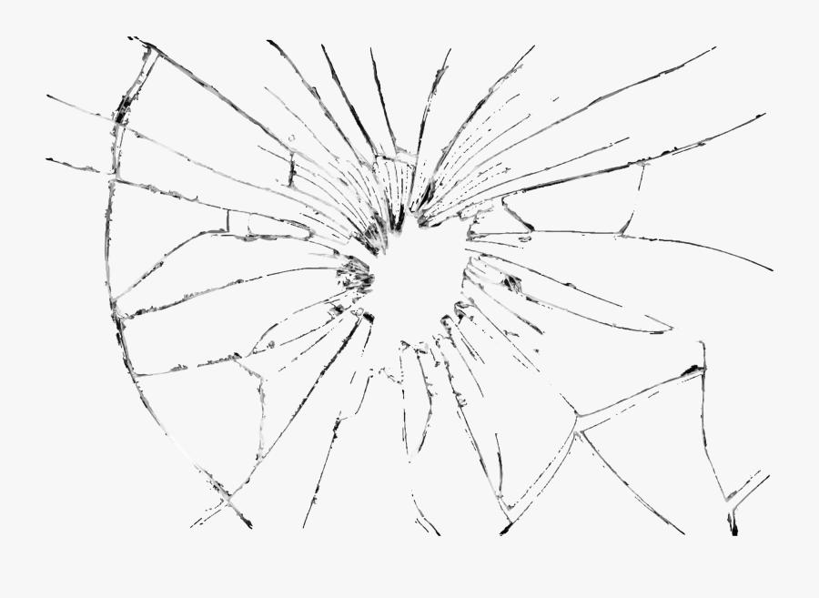 Glass Mirror Clip Art - Bullet Hole Glass Png, Transparent Clipart
