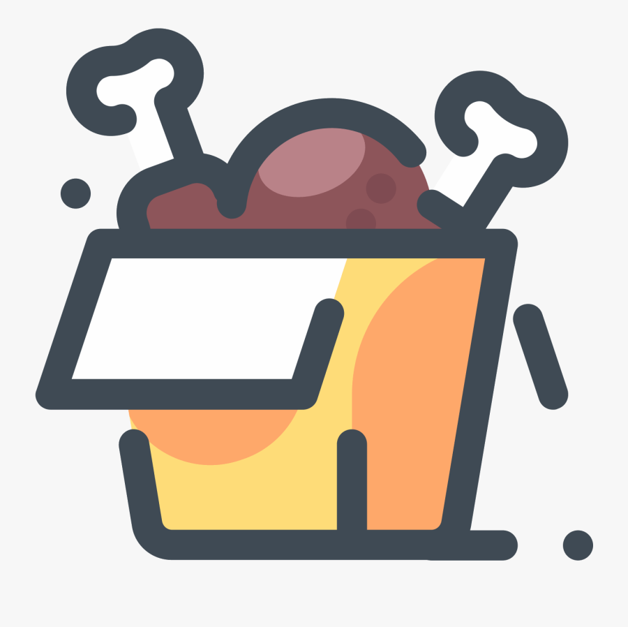 Chicken Box Icon - Chicken Icon Png, Transparent Clipart