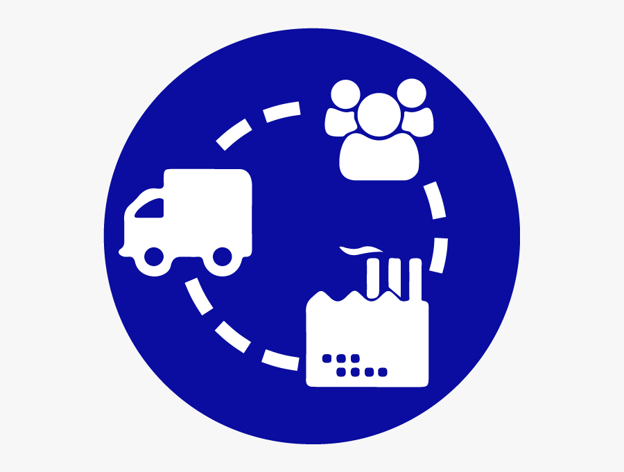 Transport Supply Chain Icon Clipart , Png Download - Supply Chain Round Icon, Transparent Clipart
