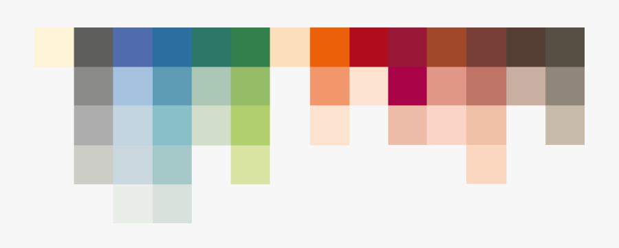 Clip Art Color Palette With Orange - Le Corbusier Colors, Transparent Clipart